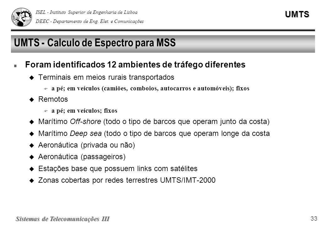 UMTS - Calculo de Espectro para MSS