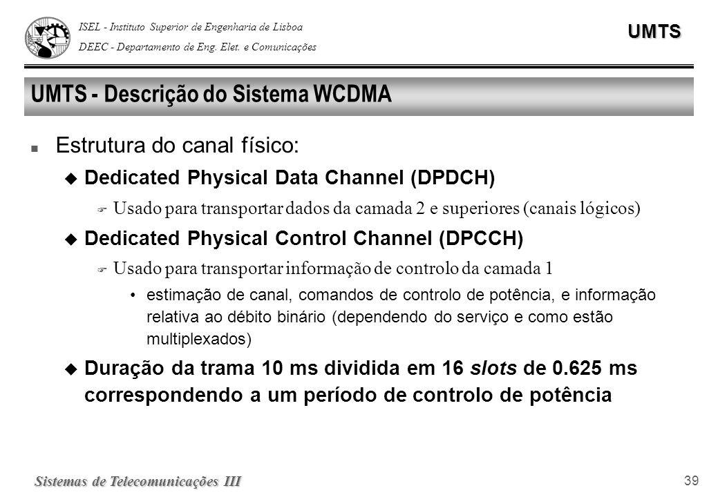UMTS - Descrição do Sistema WCDMA
