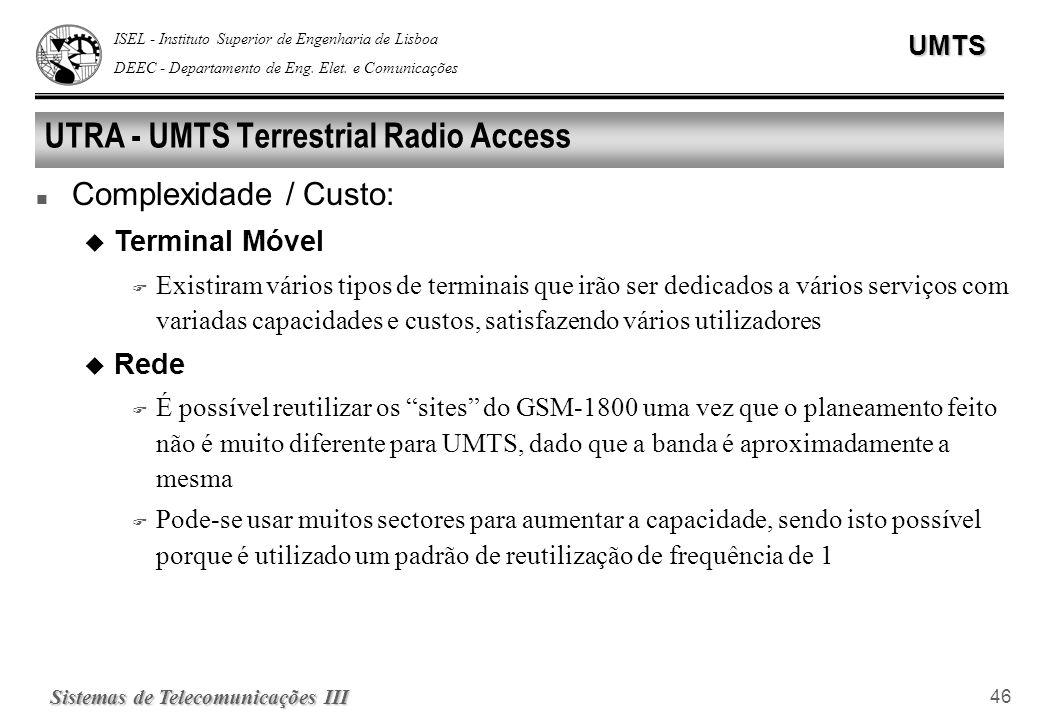 UTRA - UMTS Terrestrial Radio Access