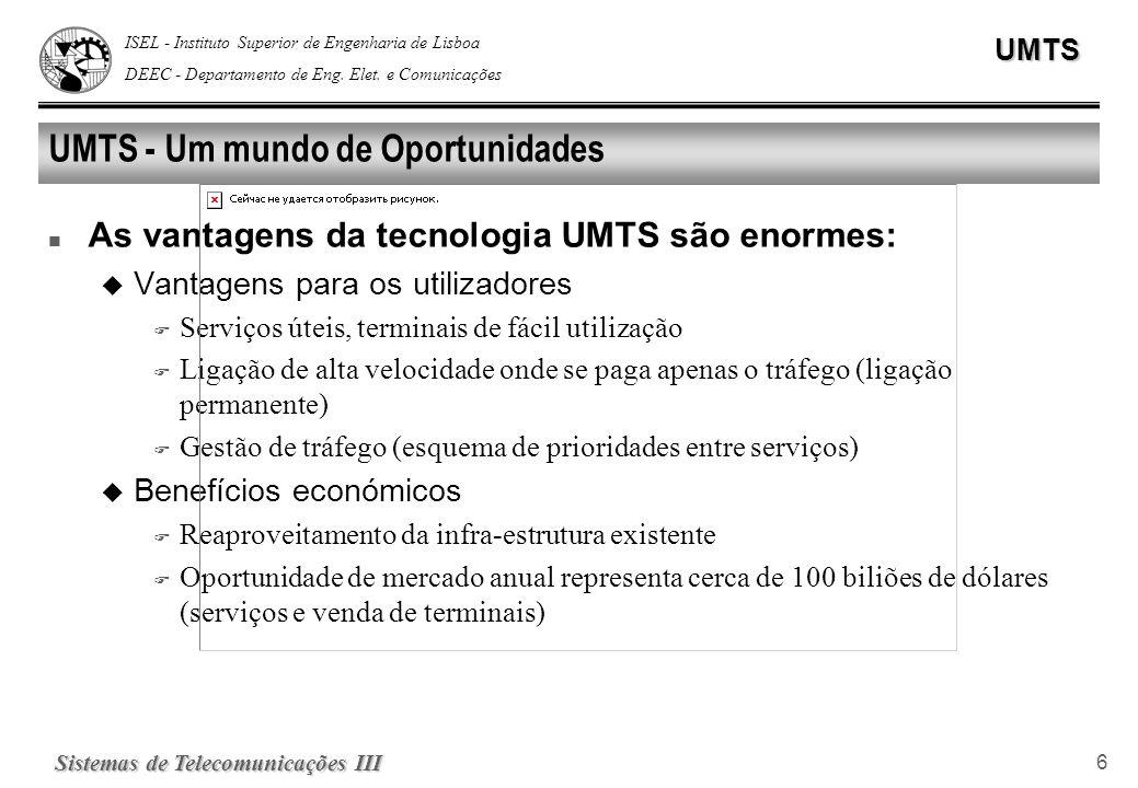 UMTS - Um mundo de Oportunidades