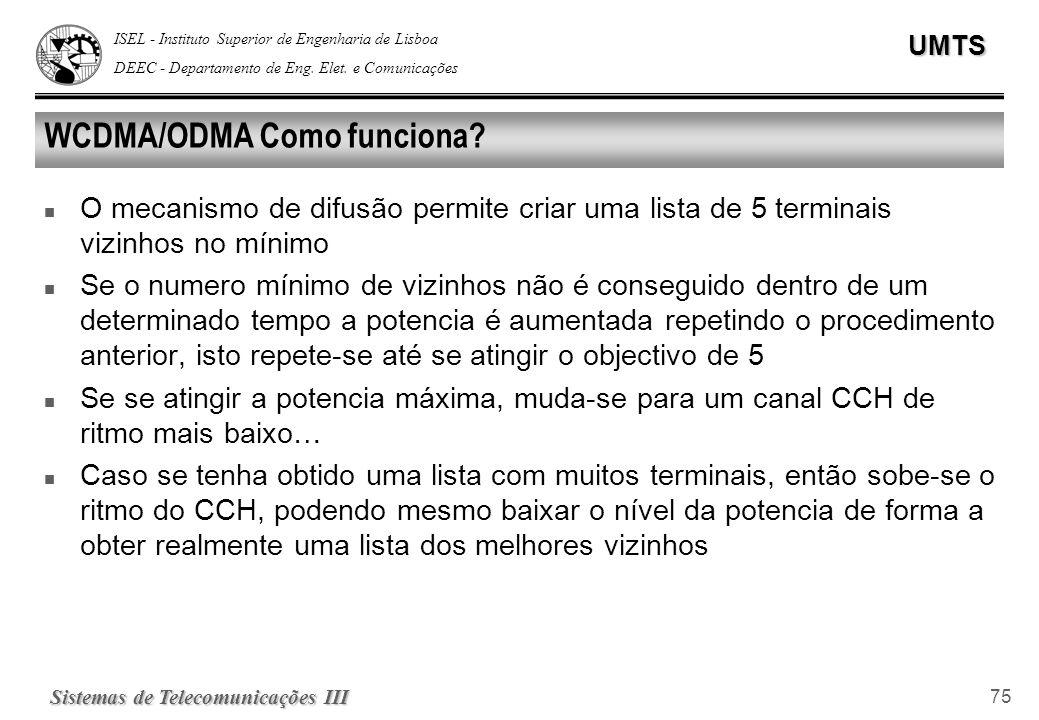 WCDMA/ODMA Como funciona