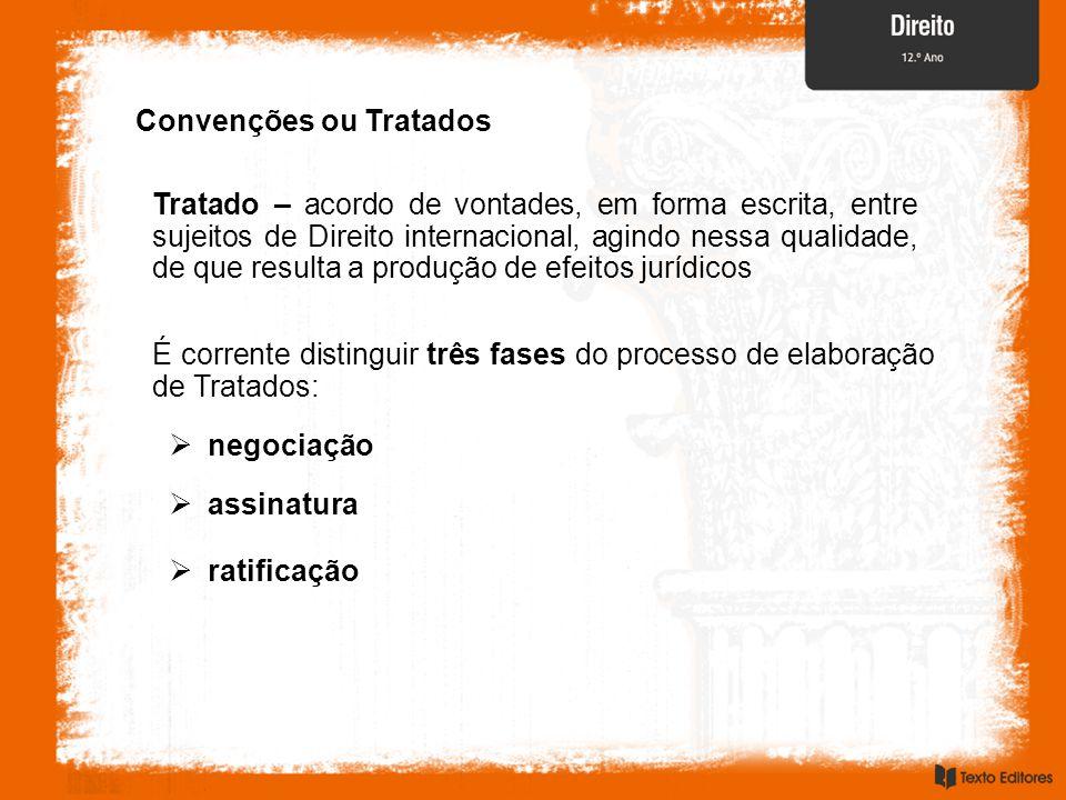 Convenções ou Tratados