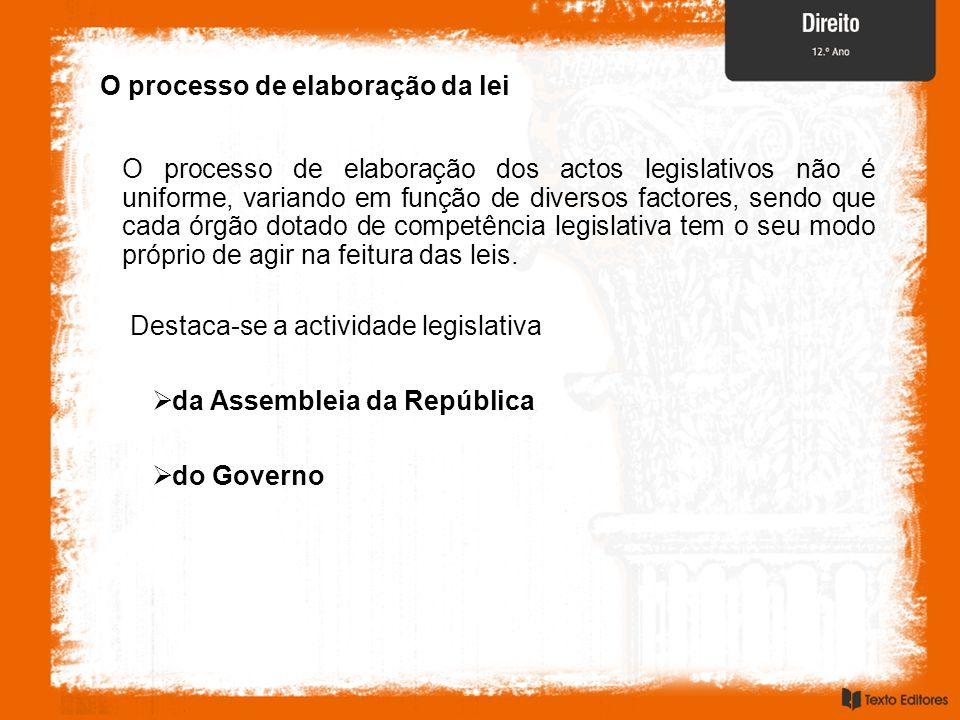 O processo de elaboração da lei