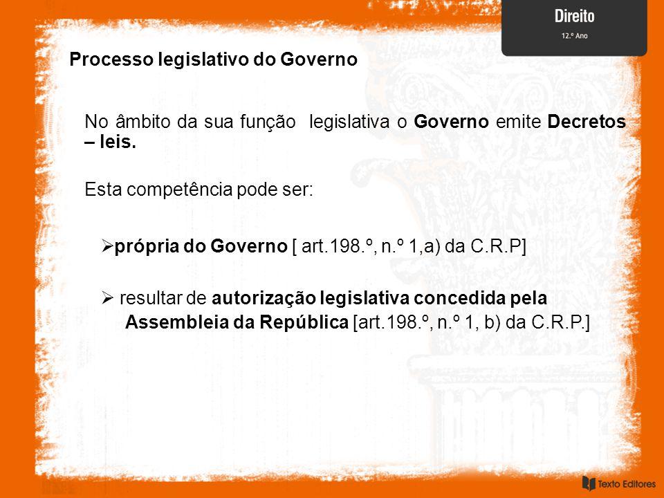 Processo legislativo do Governo