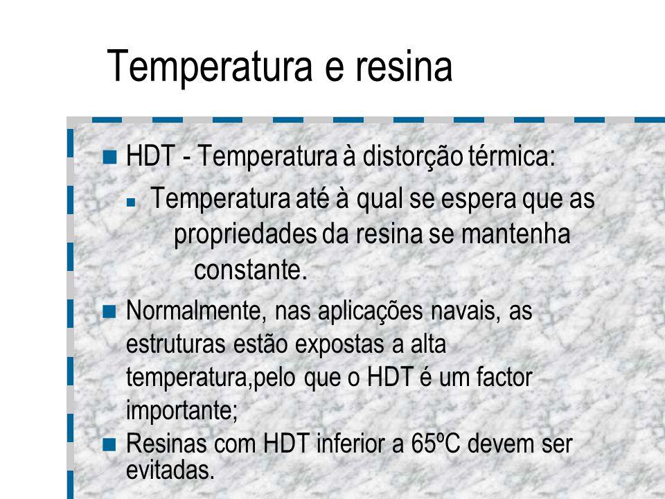 Temperatura e resina HDT - Temperatura à distorção térmica: