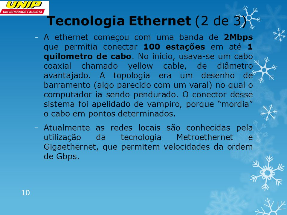 Tecnologia Ethernet (2 de 3)