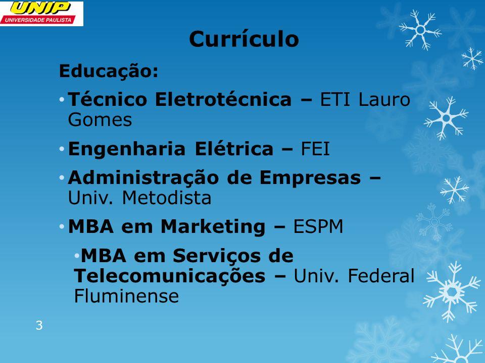 Currículo Técnico Eletrotécnica – ETI Lauro Gomes