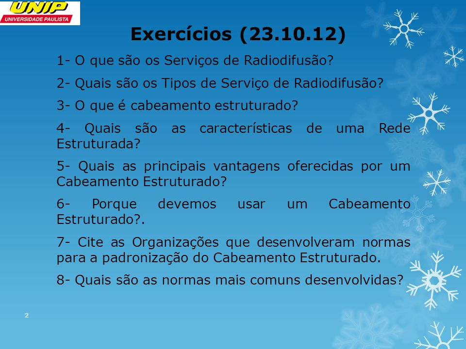 Exercícios (23.10.12)