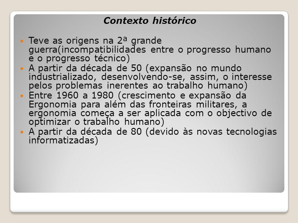 Contexto histórico Teve as origens na 2ª grande guerra(incompatibilidades entre o progresso humano e o progresso técnico)