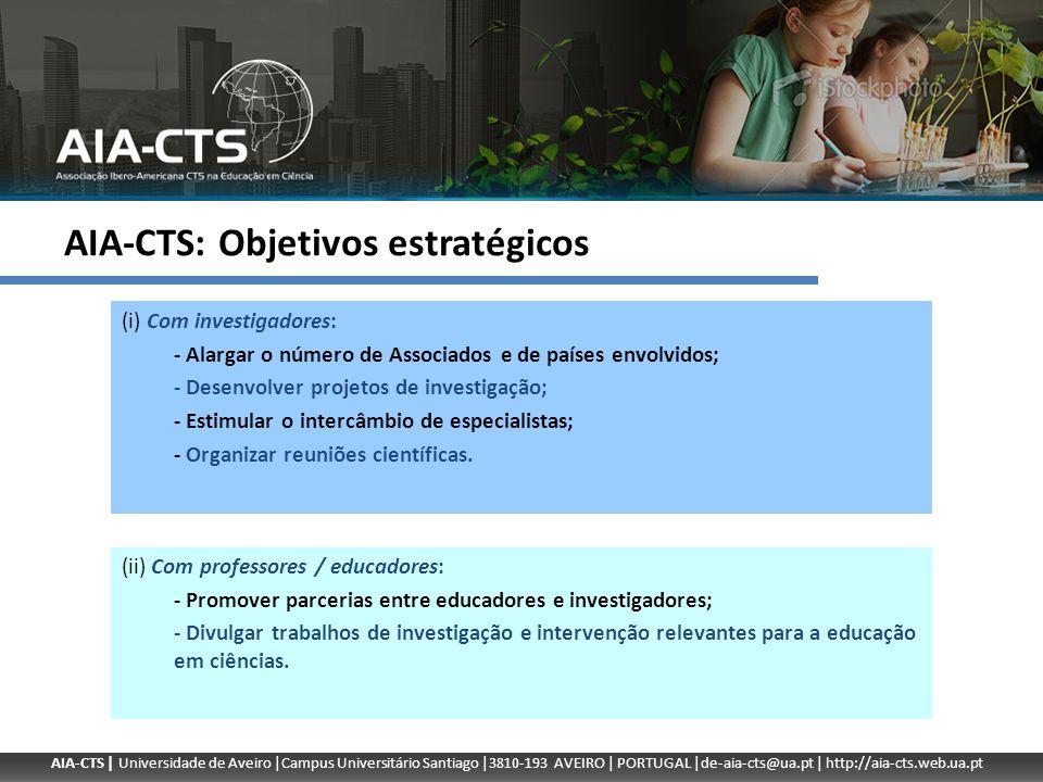 AIA-CTS: Objetivos estratégicos