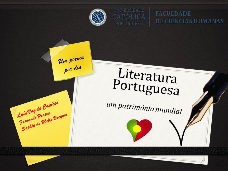 Literatura Portuguesa um património mundial