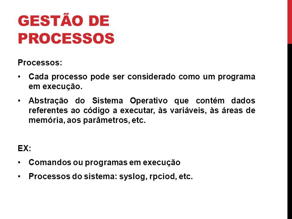 Gestão de Processos Processos: