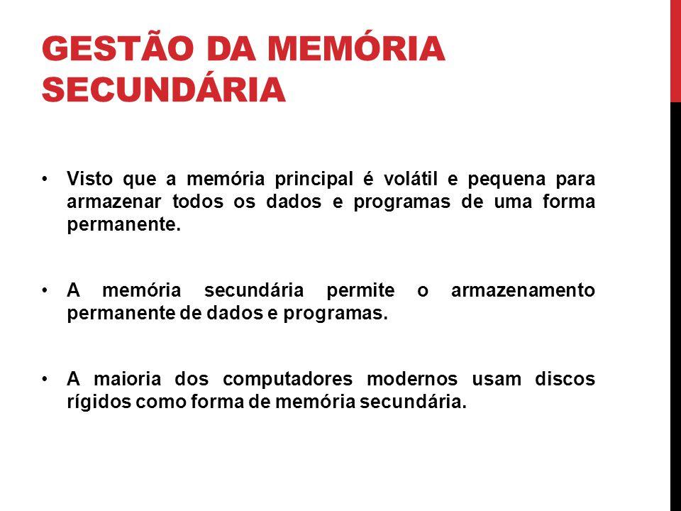 Gestão da Memória Secundária