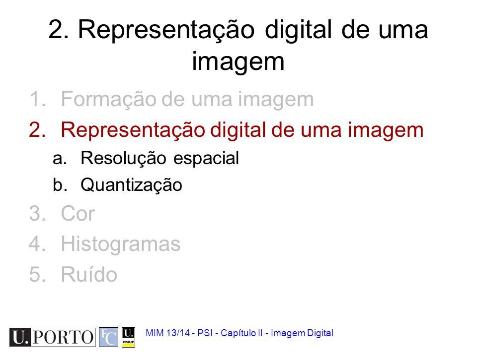 2. Representação digital de uma imagem