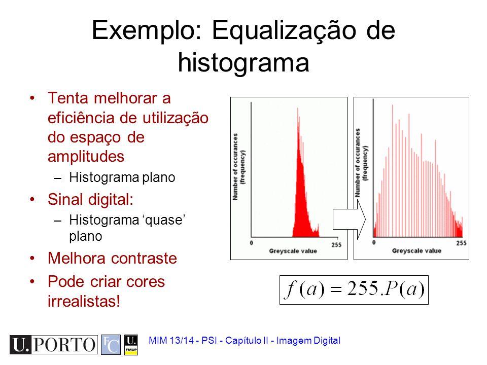 Exemplo: Equalização de histograma