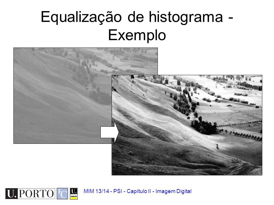 Equalização de histograma - Exemplo