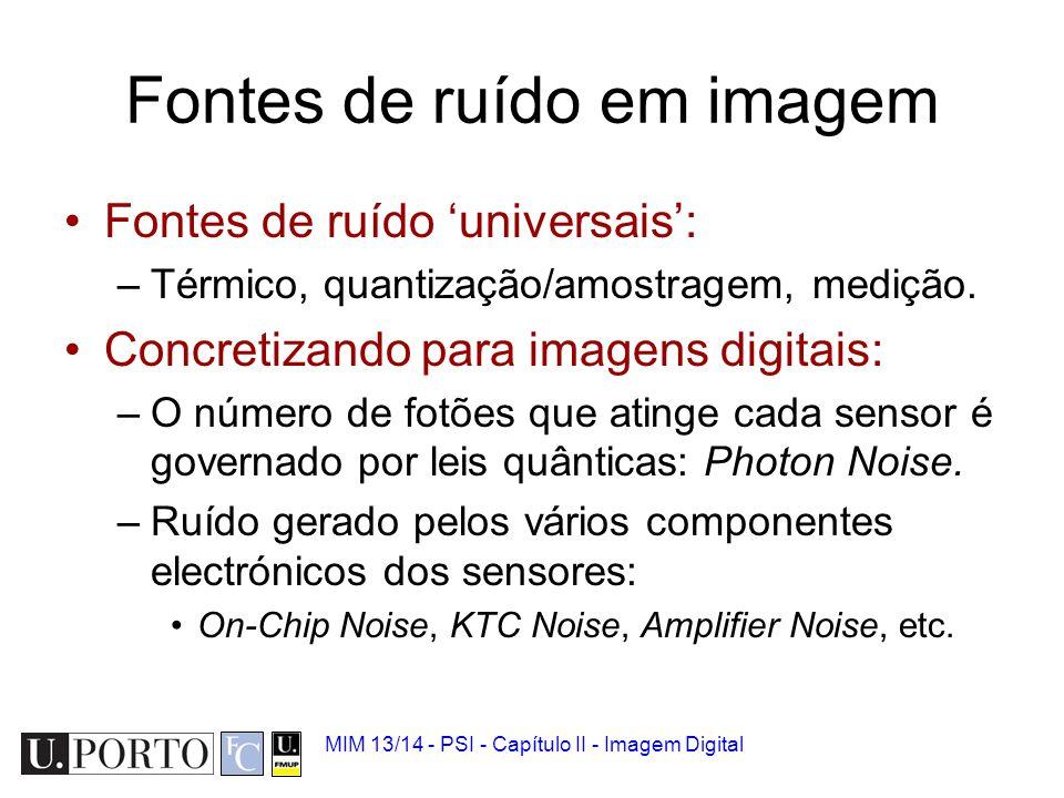 Fontes de ruído em imagem