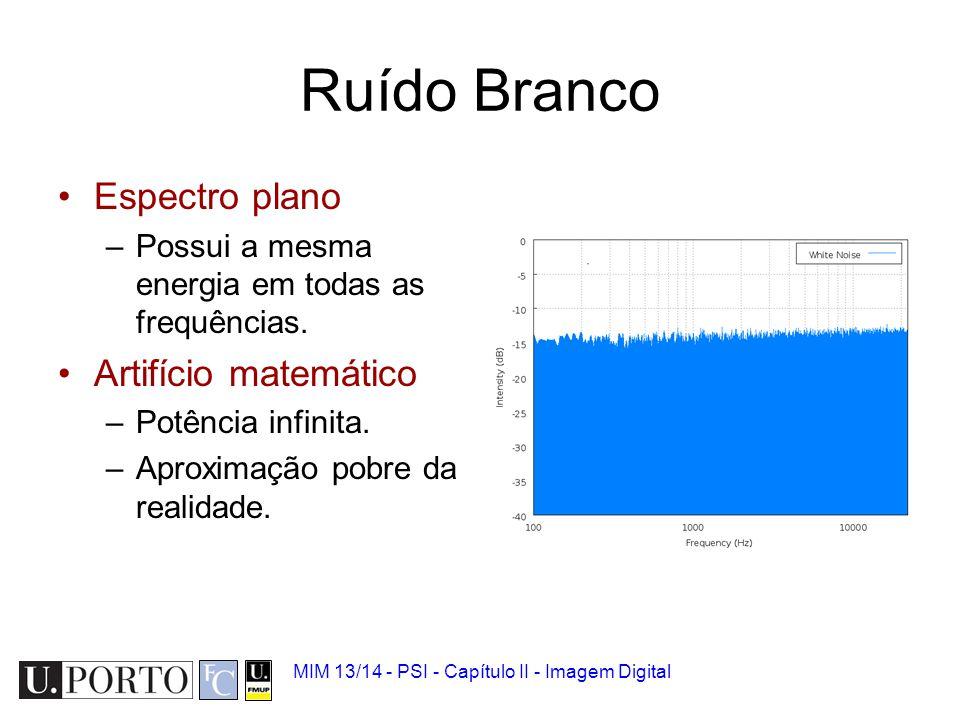 Ruído Branco Espectro plano Artifício matemático