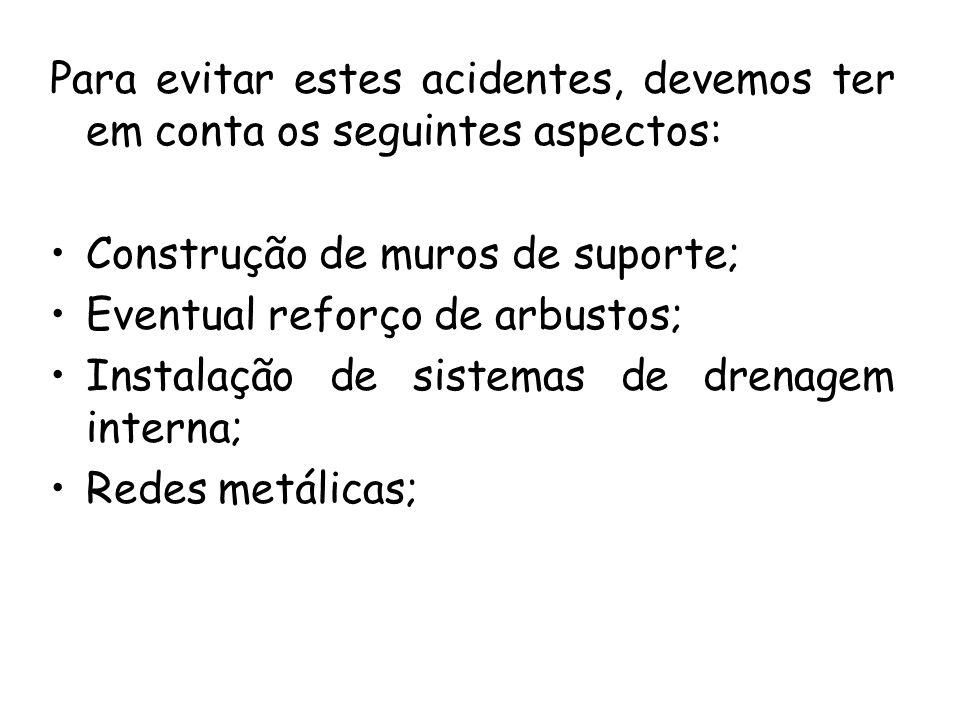 Para evitar estes acidentes, devemos ter em conta os seguintes aspectos: