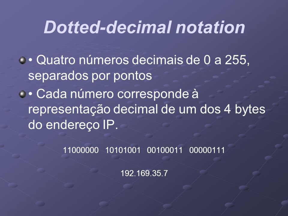 Dotted-decimal notation
