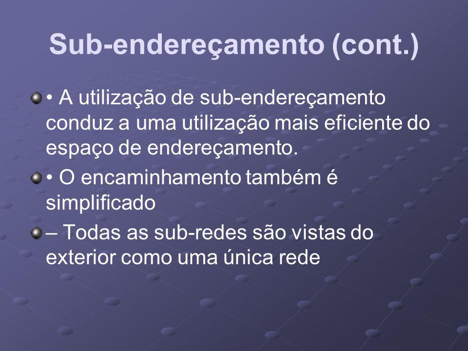 Sub-endereçamento (cont.)
