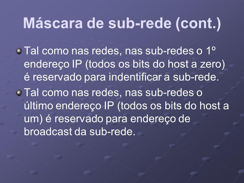 Máscara de sub-rede (cont.)