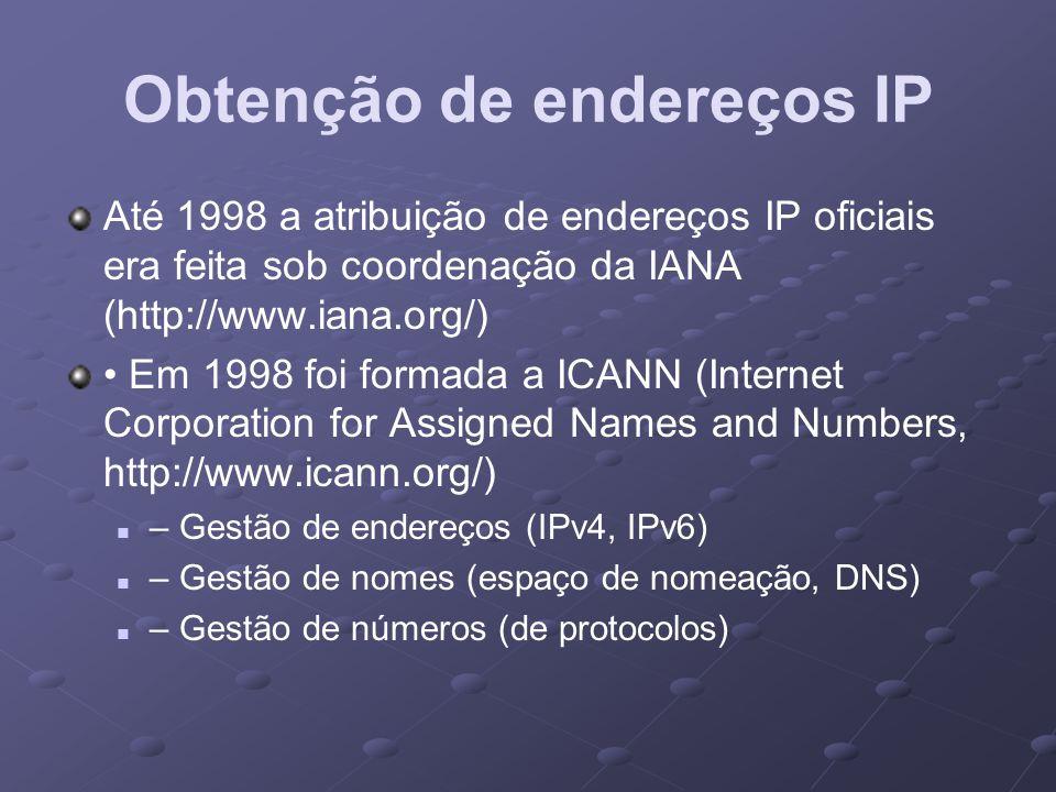 Obtenção de endereços IP