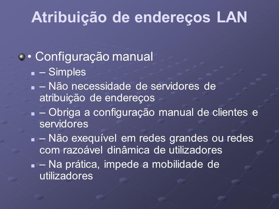 Atribuição de endereços LAN