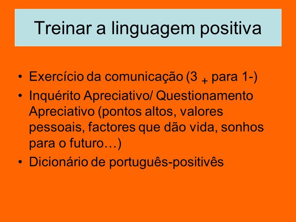 Treinar a linguagem positiva