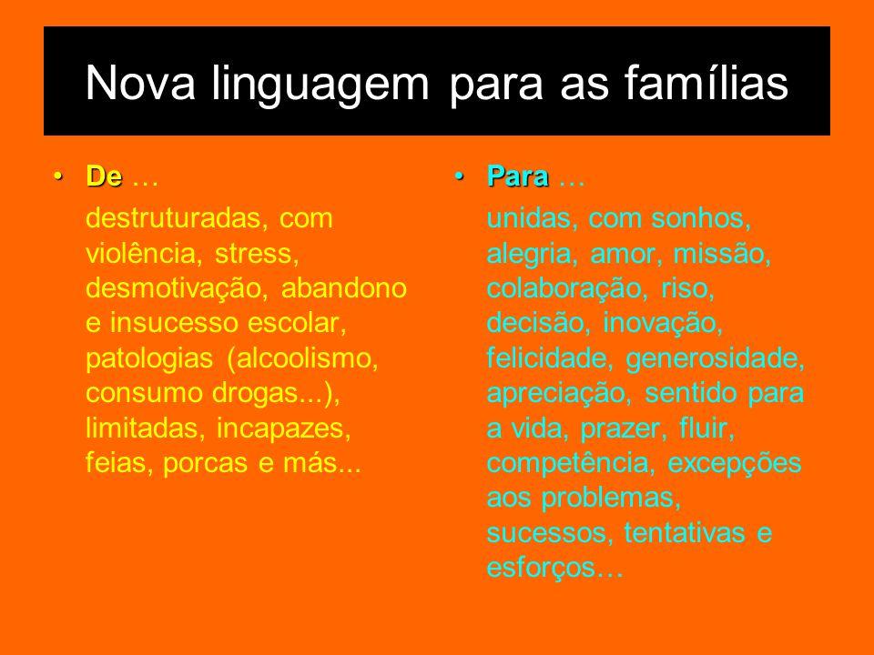 Nova linguagem para as famílias