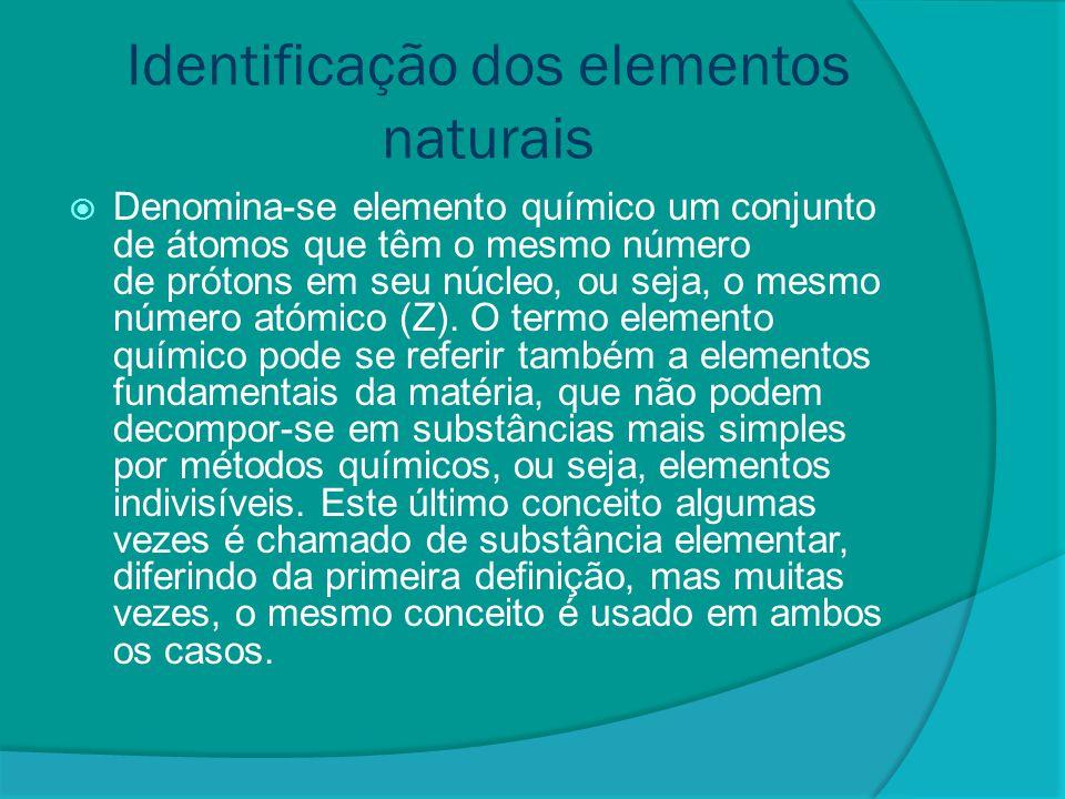 Identificação dos elementos naturais