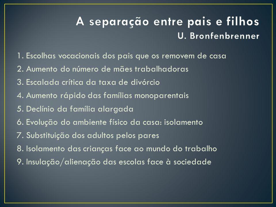 A separação entre pais e filhos U. Bronfenbrenner