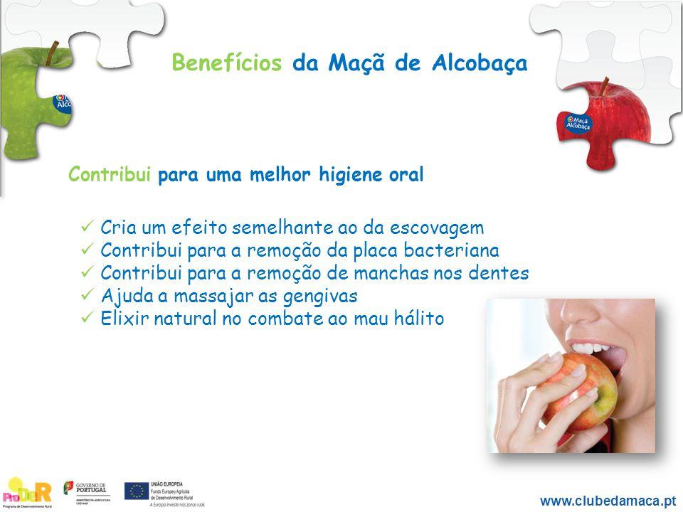 Benefícios da Maçã de Alcobaça Contribui para uma melhor higiene oral