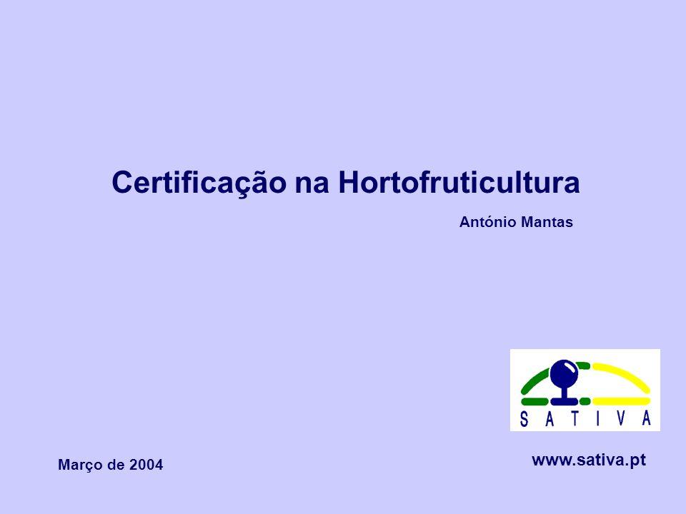 Certificação na Hortofruticultura