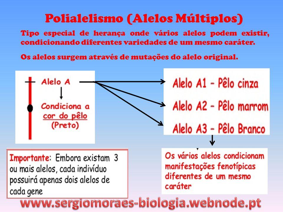 www.sergiomoraes-biologia.webnode.pt Polialelismo (Alelos Múltiplos)