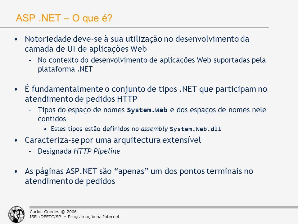 ASP .NET – O que é Notoriedade deve-se à sua utilização no desenvolvimento da camada de UI de aplicações Web.