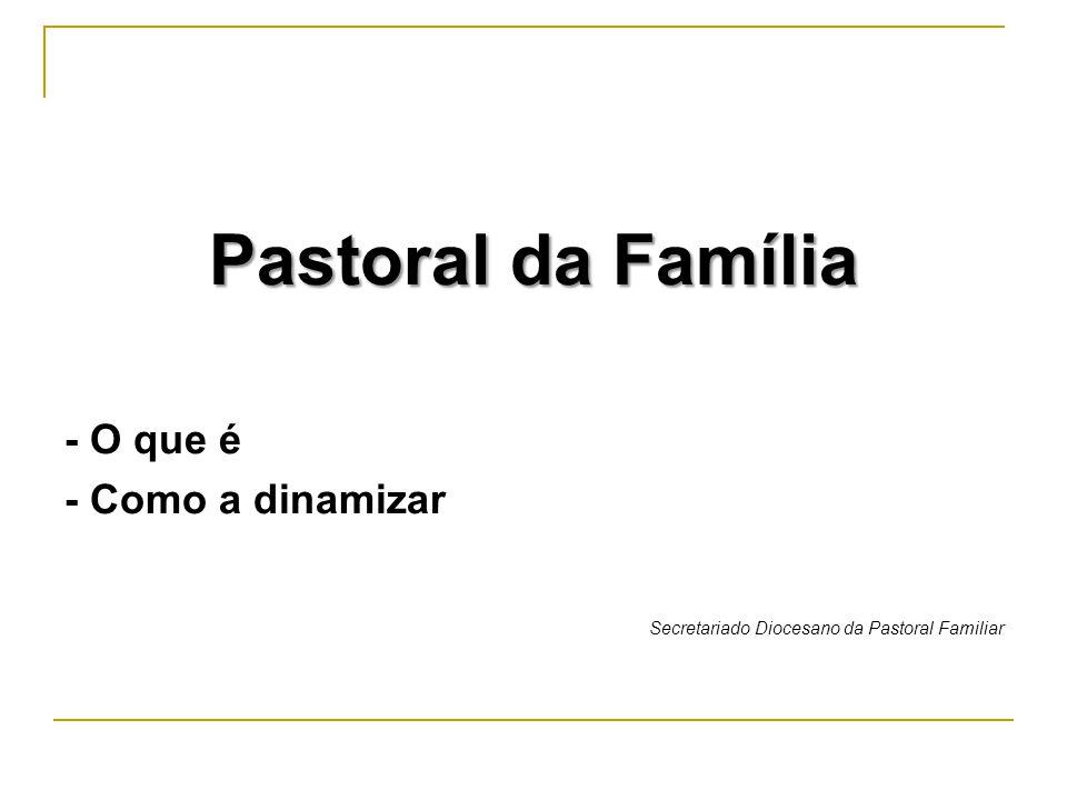 Pastoral da Família - O que é - Como a dinamizar