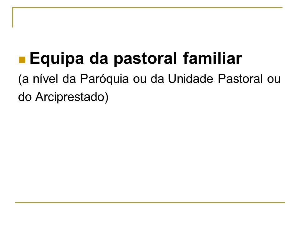 Equipa da pastoral familiar