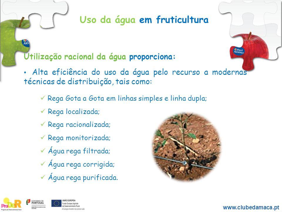 Uso da água em fruticultura