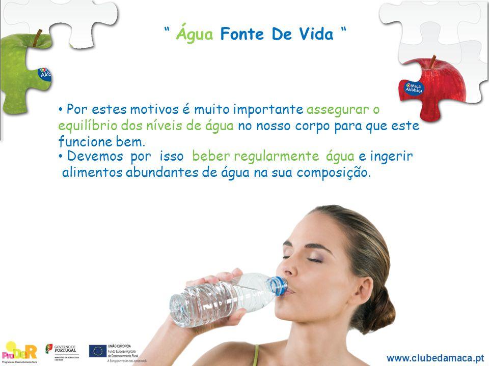 Água Fonte De Vida Por estes motivos é muito importante assegurar o. equilíbrio dos níveis de água no nosso corpo para que este funcione bem.