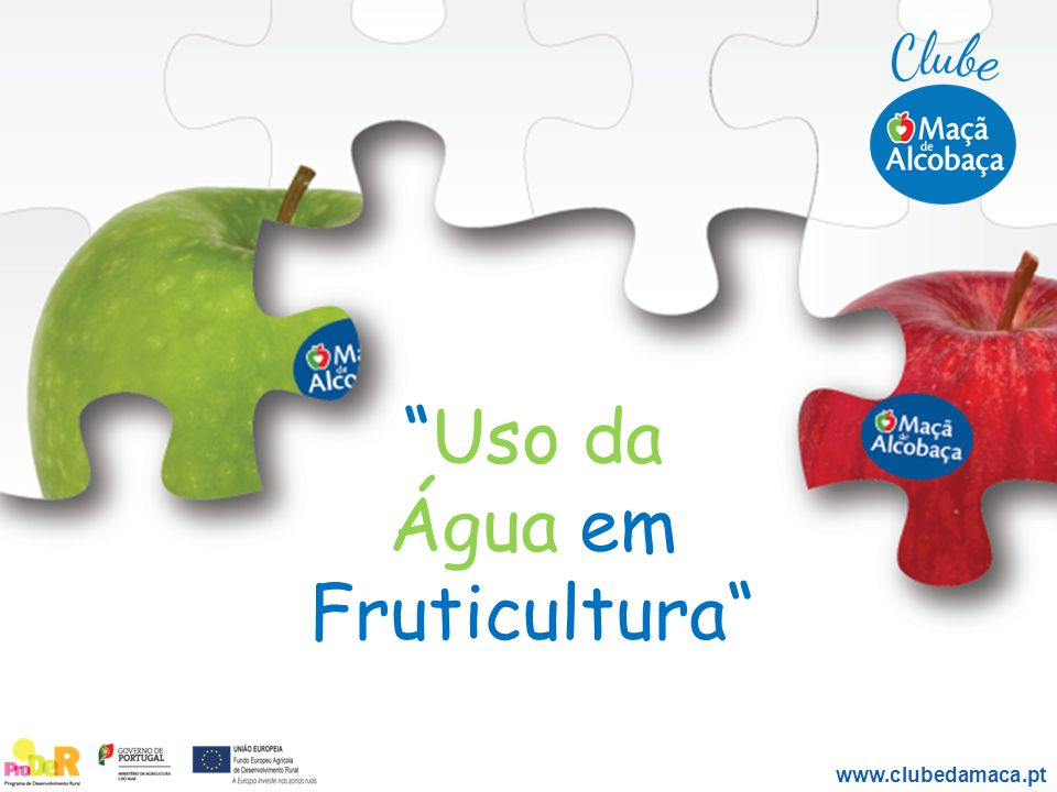 Uso da Água em Fruticultura www.clubedamaca.pt