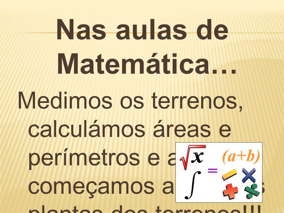 Nas aulas de Matemática…