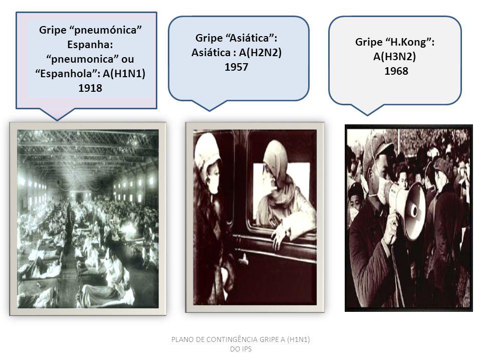 Gripe pneumónica Espanha: pneumonica ou Espanhola : A(H1N1) 1918
