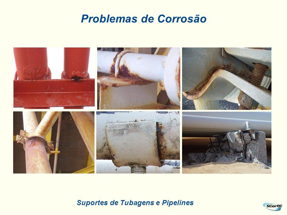 Problemas de Corrosão Suportes de Tubagens e Pipelines