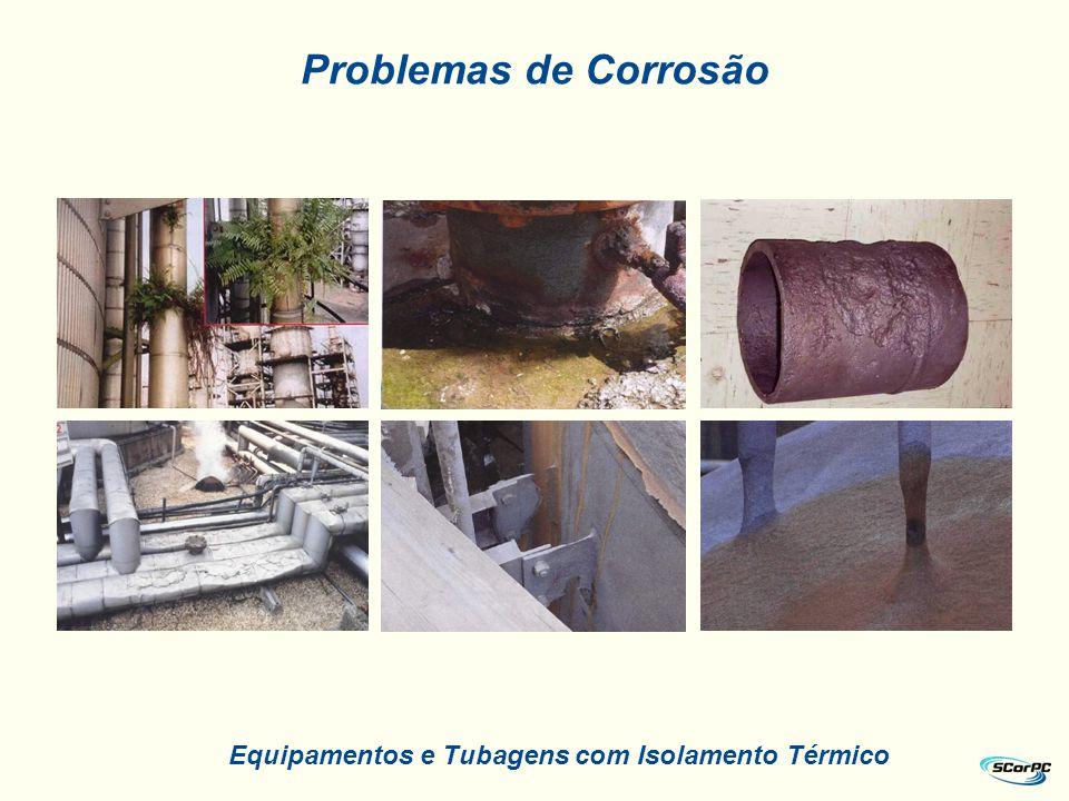Problemas de Corrosão Equipamentos e Tubagens com Isolamento Térmico