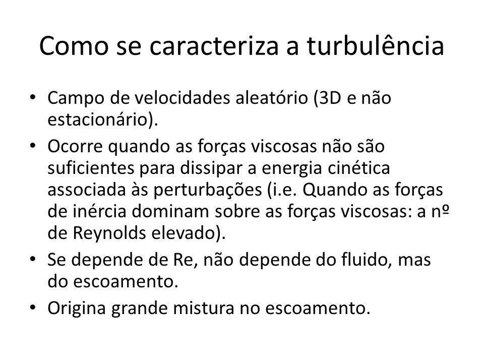 Como se caracteriza a turbulência