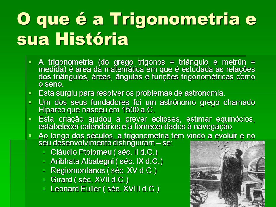 O que é a Trigonometria e sua História