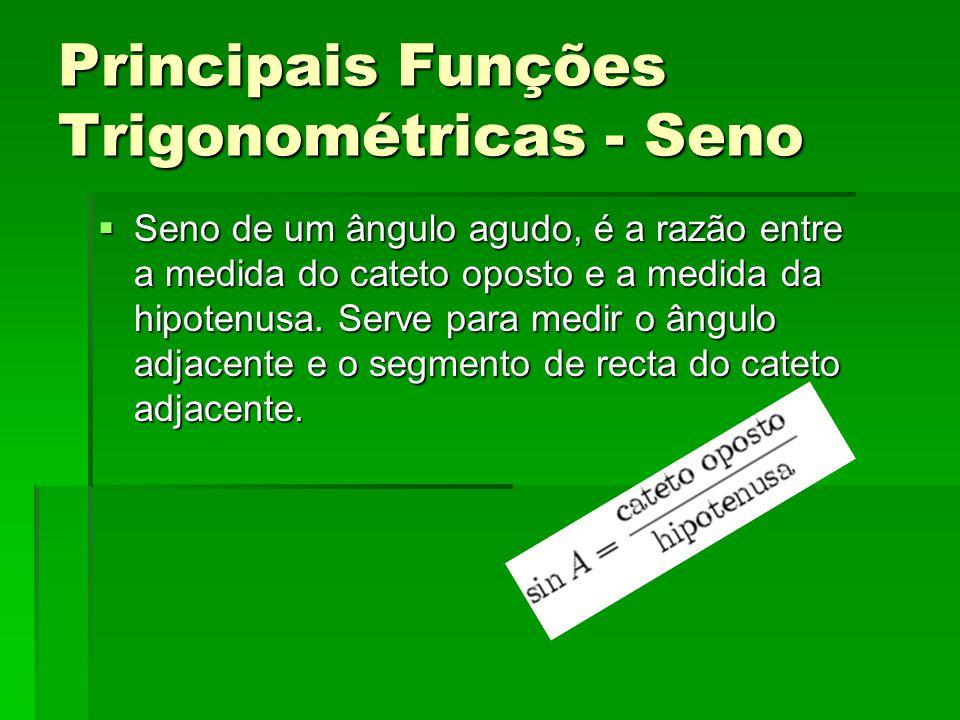 Principais Funções Trigonométricas - Seno