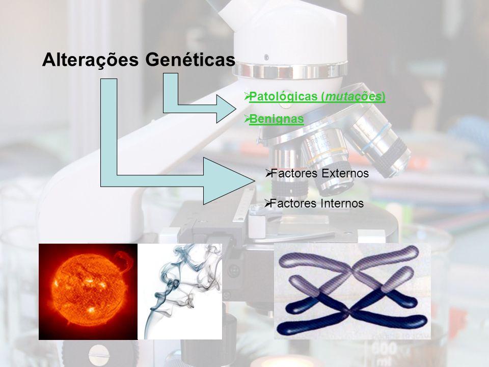 Alterações Genéticas Patológicas (mutações) Benignas Factores Externos