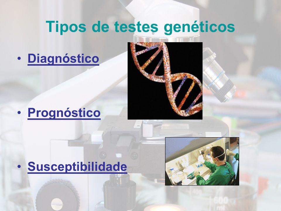 Tipos de testes genéticos